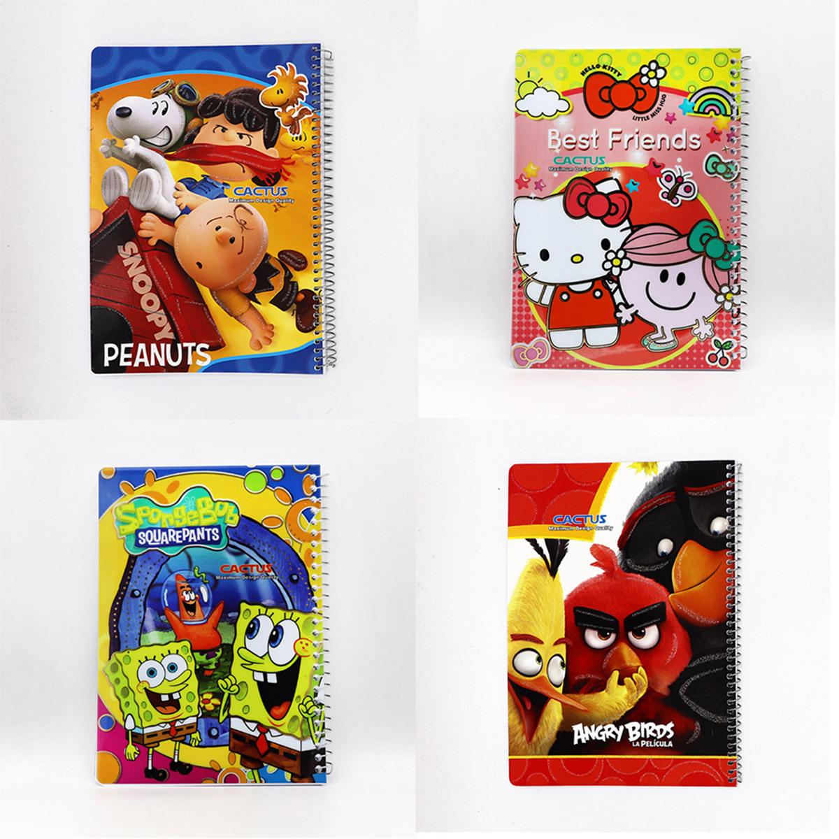 دفتر 100 برگ کارتونی کاکتوس