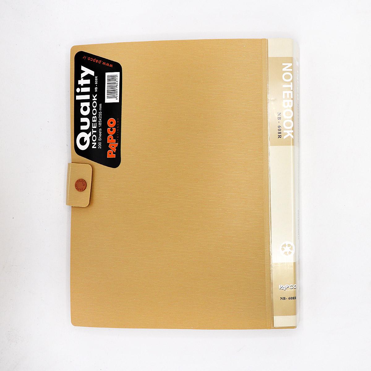 دفتر 200برگ دکمه دار الوان 608 پاپکو