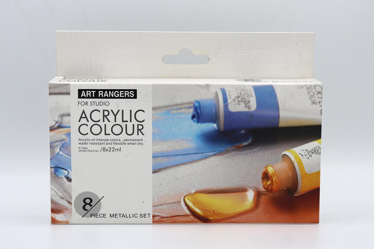 اکروليک 8 رنگ 22 ميل متاليک - ART