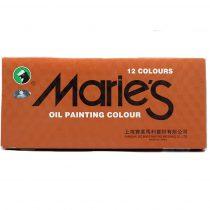 ست 12 رنگ رنگ روغن ماريس E1381
