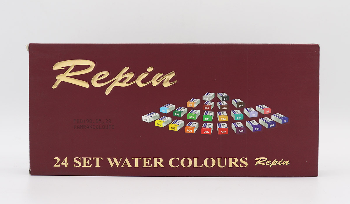 آبرنگ 24 رنگ حرفه اي رپين