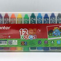 پاستل روغني سه کاره پنتر 12 رنگ