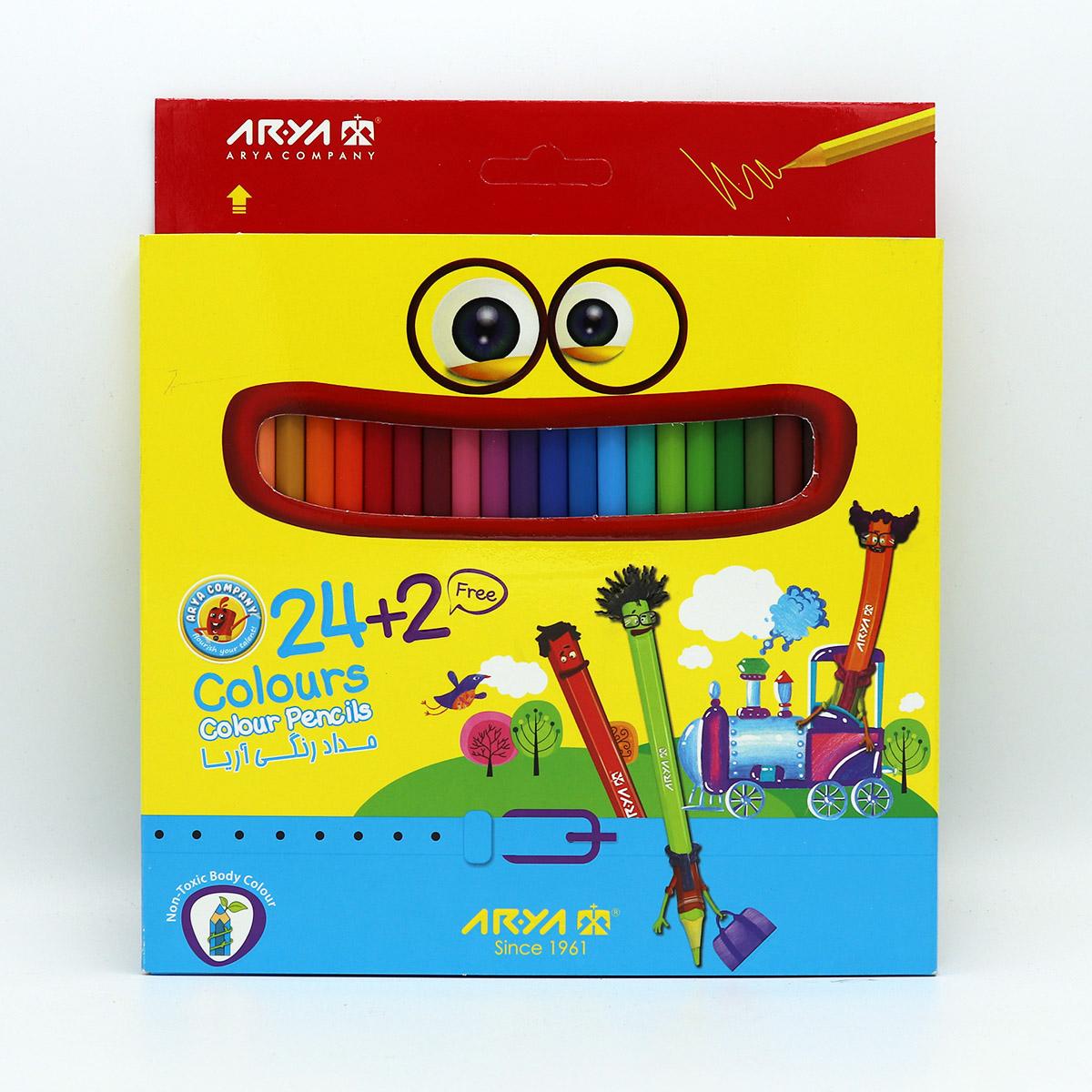 مداد رنگي 24+2 آريا