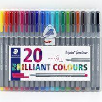 ست 20 رنگ روان نويس تريپلاس طلقي استدلر
