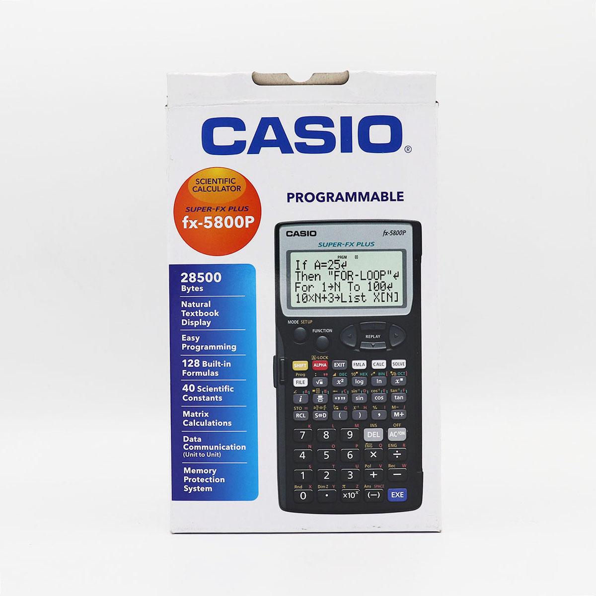 ماشين حساب مهندسي کاسيو fx-5800P