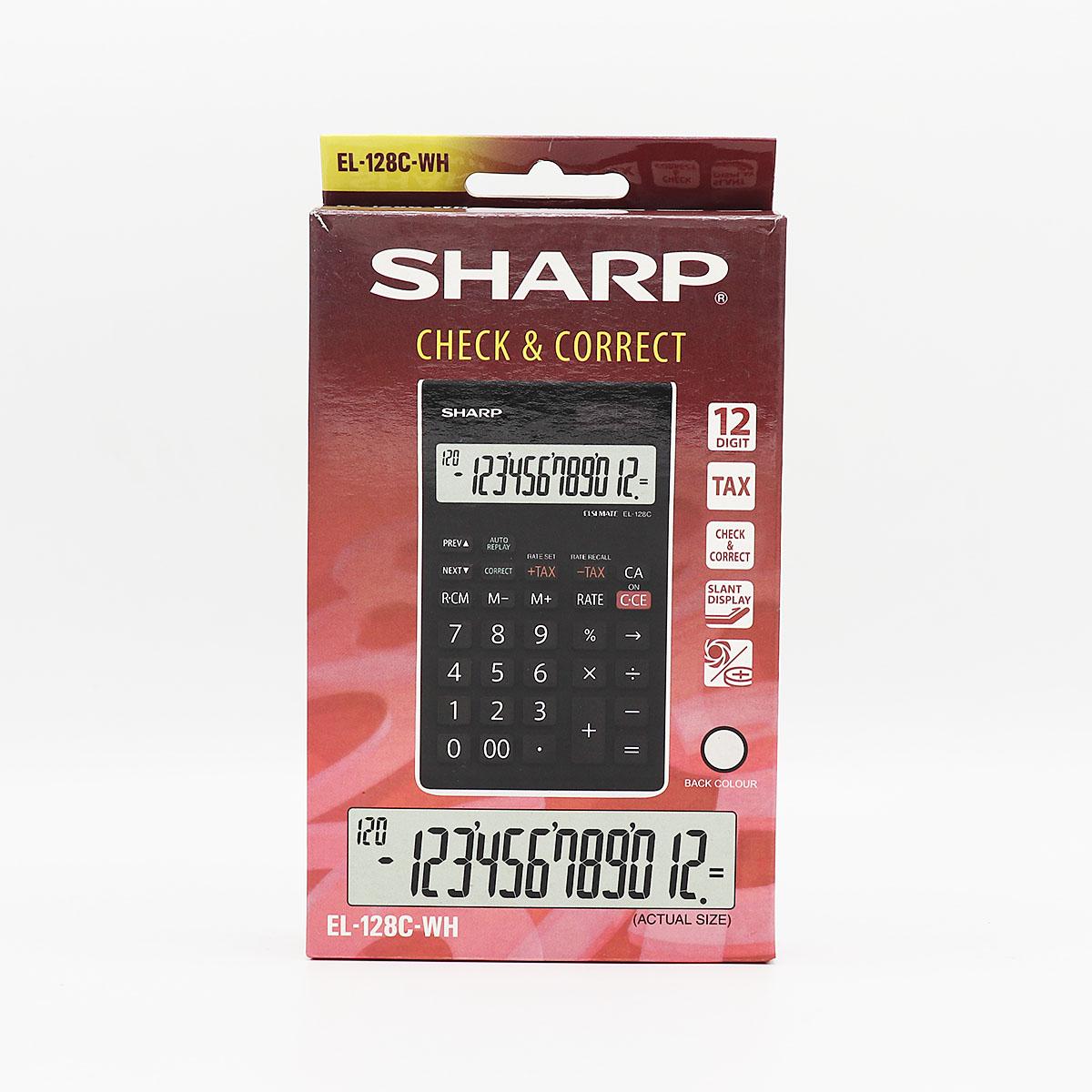 ماشين حساب شارپ EL -128C-WH