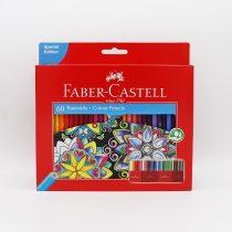 مداد رنگي جعبه مقوايي 60 رنگ طرح گل
