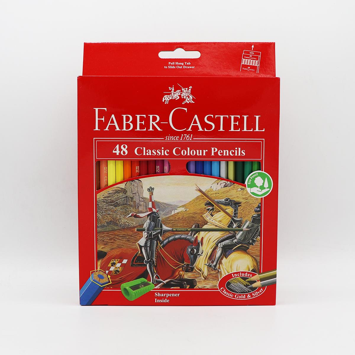 مداد رنگي جعبه مقوايي 48 رنگ کلاسيک