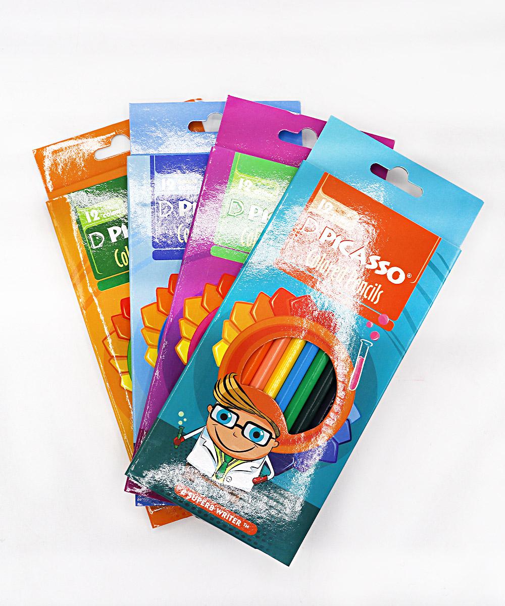 مداد رنگی 12 رنگ جعبه مقوایی Picasso