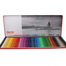مداد رنگي 50 رنگ جعبه فلزي - فکتيسمداد رنگي 50 رنگ جعبه فلزي - فکتيس
