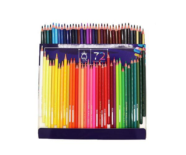 مداد رنگي 72 رنگ مقوايي - MQ