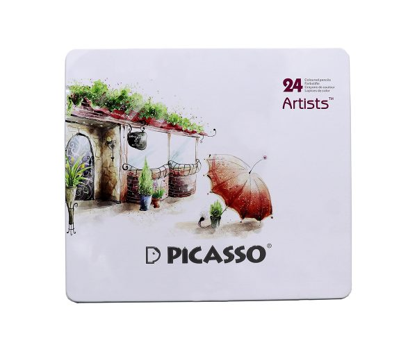 مداد رنگي 24 رنگ آرتيست فلزي - Picasso